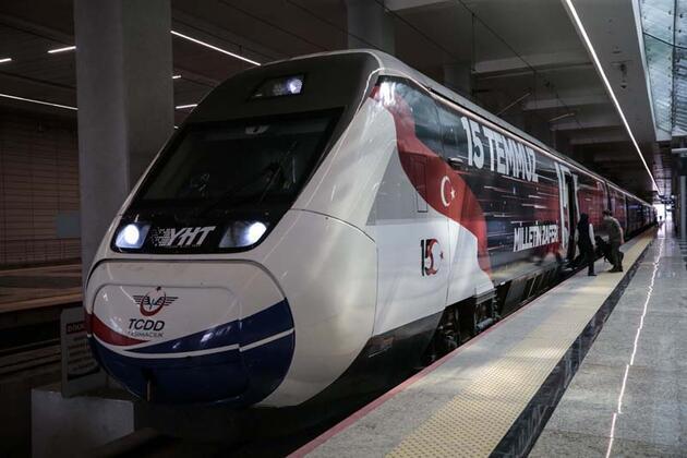 15 Temmuz Demokrasi ve Milli Birlik Treni, ilk seferinde Ankara'dan hareket etti