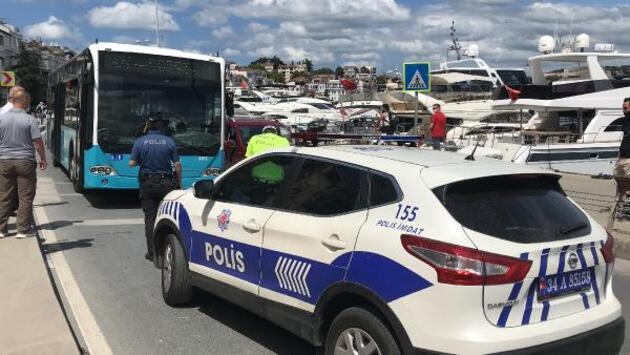 Son dakika... Beşiktaş'ta yaya geçidinde halk otobüsünün çarptığı kadın yaralandı