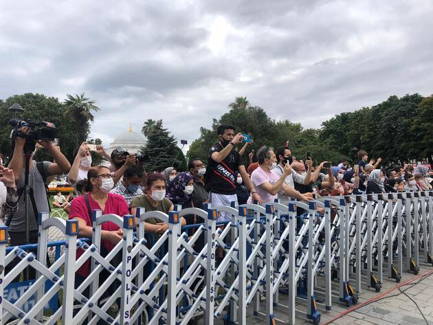 Ayasofya'da 15 Temmuz'a özel koreografi gösterisi