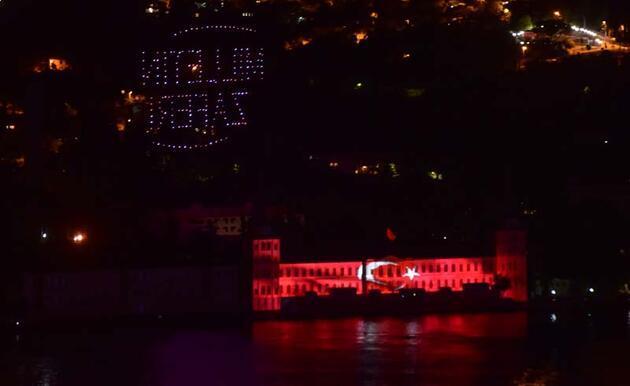 Kuleli'de 15 Temmuz için ışık ve drone gösterisi