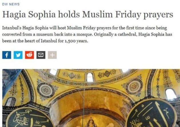 Son dakika...  Ayasofya'da kılınacak ilk Cuma namazı dünya basınında
