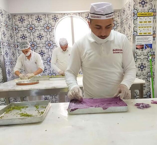 Erzurumlu bir tatlı ustası üretti! Diyabet hastaları için 'mor baklava'