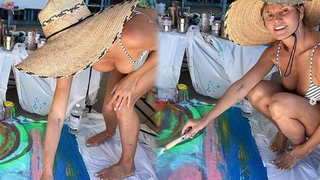 Heidi Klum resimle ilgileniyor