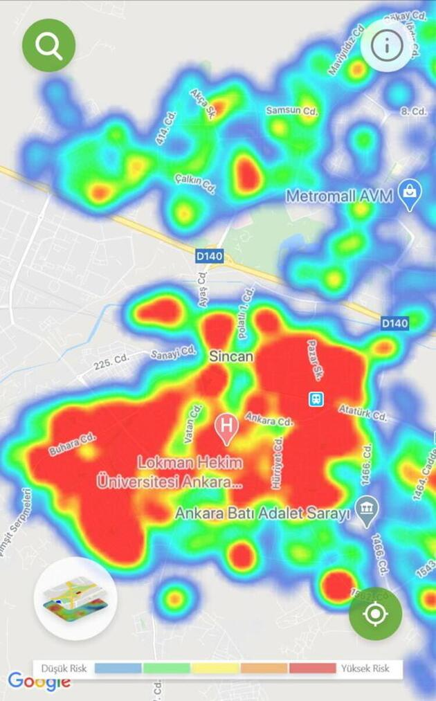 Son dakika... İşte ilçe ilçe Ankara'nın koronavirüs haritası