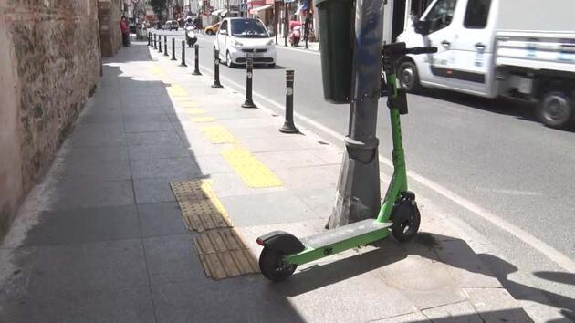 Son dakika... Otomobil, motosiklet, elektrikli scooter... İstanbul'da kaldırımlar işgal altında