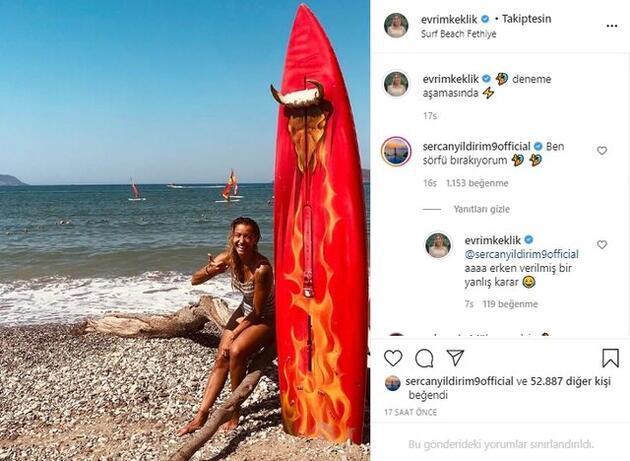 Survivor Evrim'in sörf denemelerine Sercan Yıldırım'dan yorum!