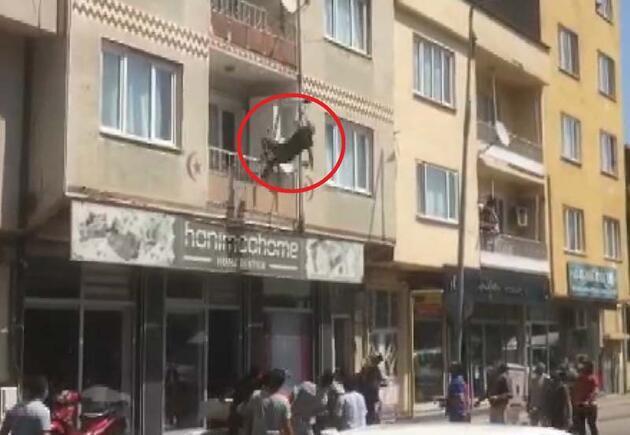 Son dakika... Bursa'da korku dolu anlar! Kendini bir anda boşluğa bıraktı...