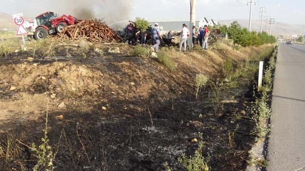 Araçtan atılan izmarit yangına neden oldu! Tonlarcası zarar gördü