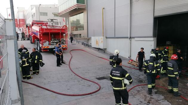 Gebze'de yağ fabrikasında korkutan yangın