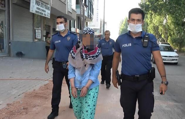 Evindeki eşyaları balkondan attı, gözaltına alındı
