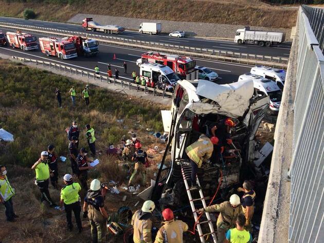 Son dakika... Otobüs kazasında yaralanan kişi: Şoför uyumuş