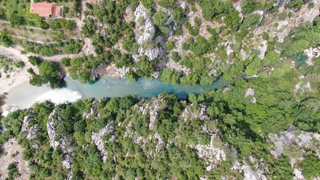 Mavi ve yeşilin buluştuğu yer 'Kanlıbüvet Kanyonu'