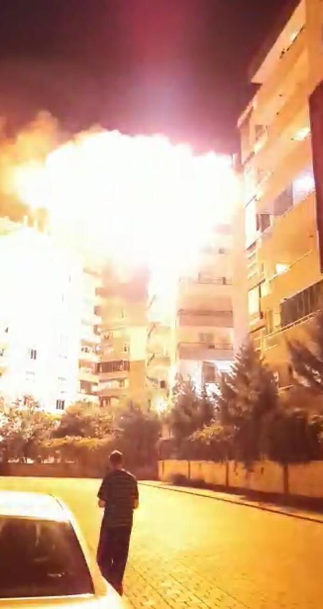 Mangal ateşi, terası yaktı