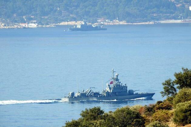 Son dakika... Türk ve Yunan fırkateynlerinin Akdeniz'de bekleyişi sürüyor