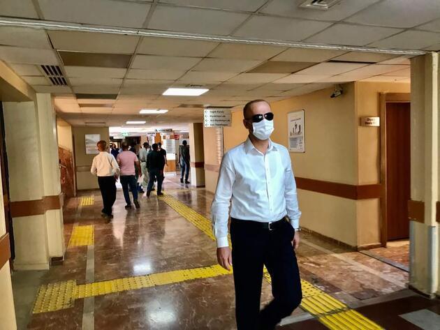 Şanlıurfa'da validen hastanede tebdili kıyafetle koronavirüs denetimi