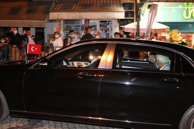 Cumhurbaşkanı Erdoğan, memleketi Rize'de
