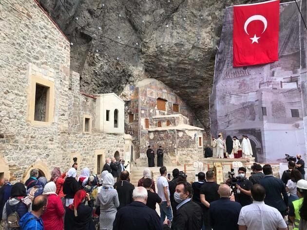 Sümela Manastırı'nda 4 yıl sonra ilk ayin