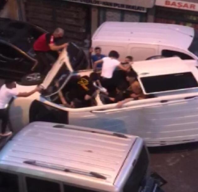 İstanbul'da feci kaza! Can pazarının görüntüleri ortaya çıktı!