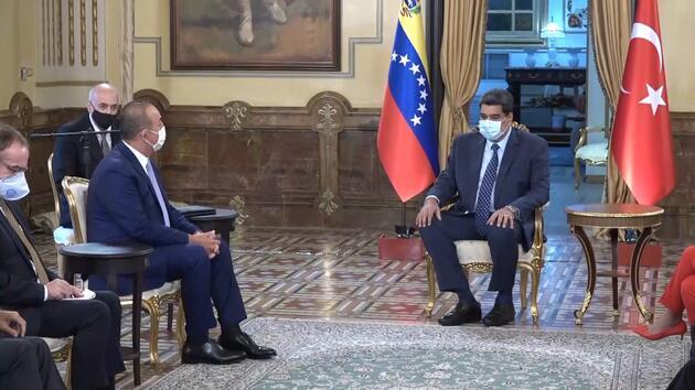 Son dakika! Bakan Çavuşoğlu, Venezuela Devlet Başkanı Maduro ile görüştü