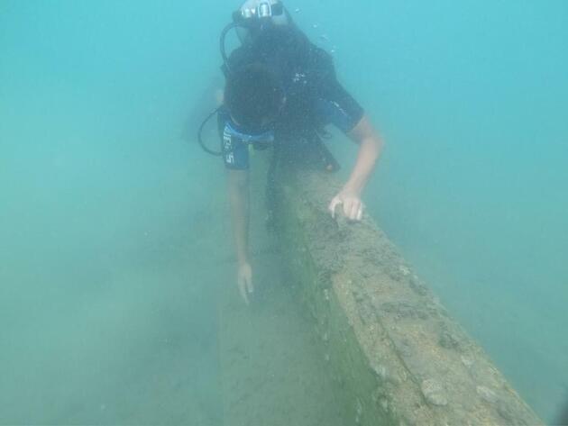 Bodrum'da şoke eden görüntü! Denizin dibine duvar ördüler