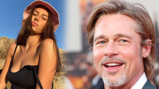 Brad Pitt'in 29 yaş küçük model sevgilisi!