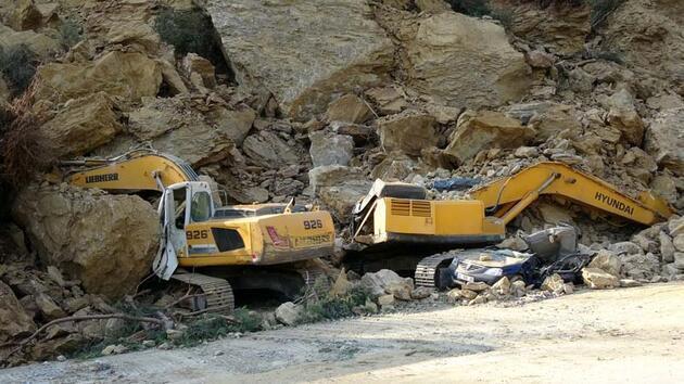 Bursa'da heyelan: Otomobilinin üzerine kaya düşen bekçi öldü