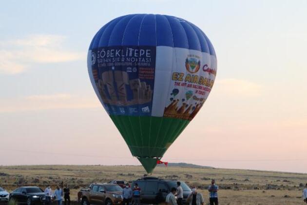 Son dakika.. Göbeklitepe'de sıcak hava balonu test uçuşu yapıldı