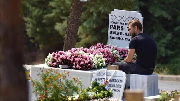 Harun Tan, oğlu Pars'ın doğum gününde mezarını ziyaret etti