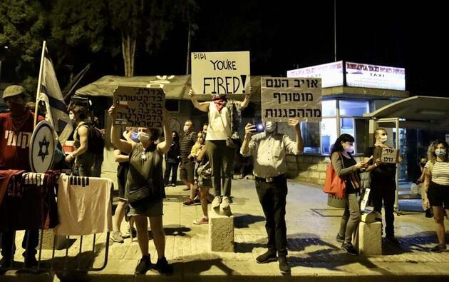 İsrail'de Netanyahu'ya tepkiler artıyor