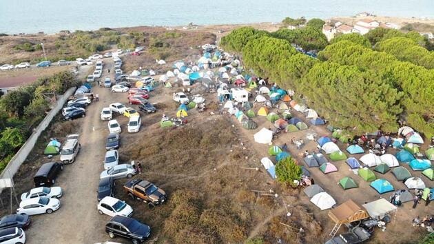 Son dakika... Şile'de kamp yapan gençlerin festivali pes dedirtti