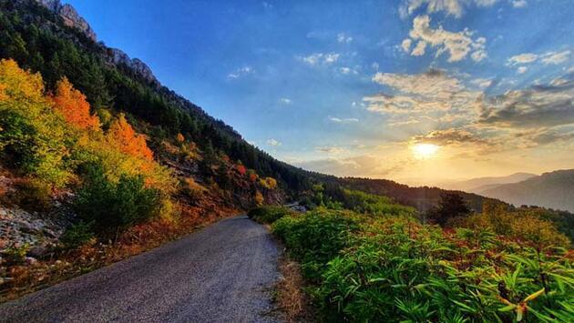 Gümüşhane dağlarında renk cümbüşü