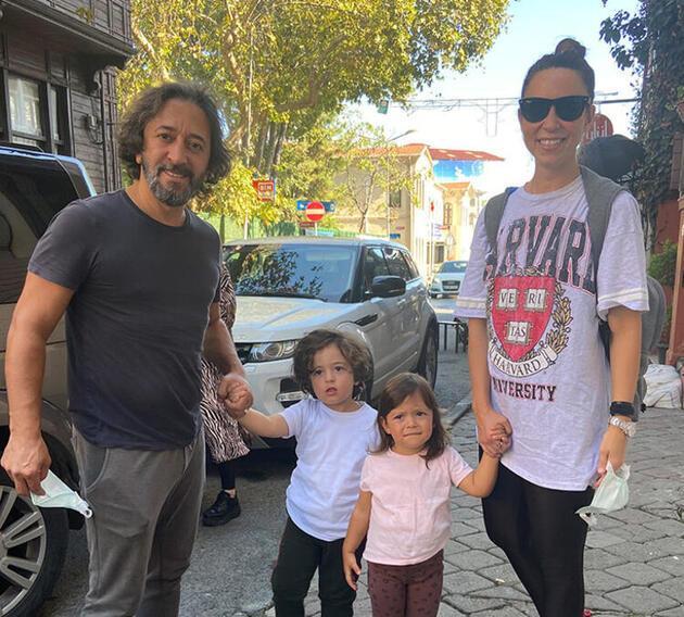 Fettah Can ailesiyle yemekte
