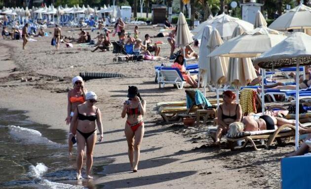 Marmaris'te sıcaklık 34 derece