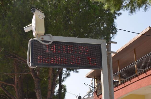 Yazı aratmayan görüntüler! Termometreler 30 dereceyi gösterdi