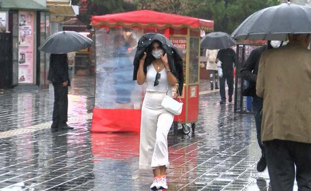 Son dakika... İstanbul'da sağanak yağış etkili oldu
