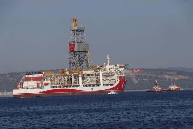 Son dakika... Sondaj gemisi 'Kanuni', Çanakkale Boğazı'nı geçiyor
