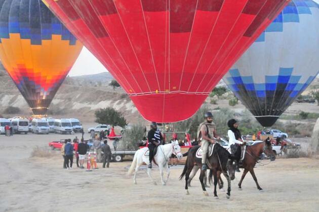 Kapadokya'da hafta sonu yoğunluğu