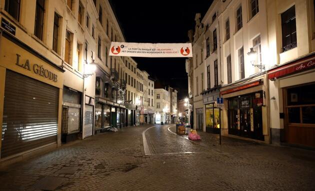 Belçika'da sokağa çıkma yasağı başladı