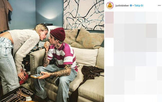 Hailey Baldwin, Justin Bieber'ın baş harfini dövme yaptırdı