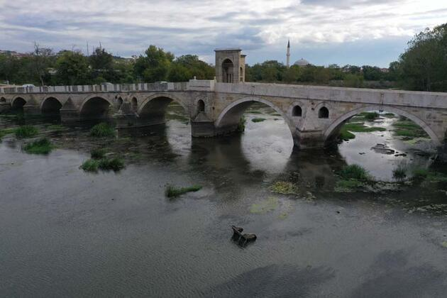 Edirne'nin Tunce Nehri'nde tepki çeken görüntüler