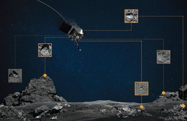 NASA duyurdu: Osirix-Rex aracı asteroide başarılı bir şekilde temas etti