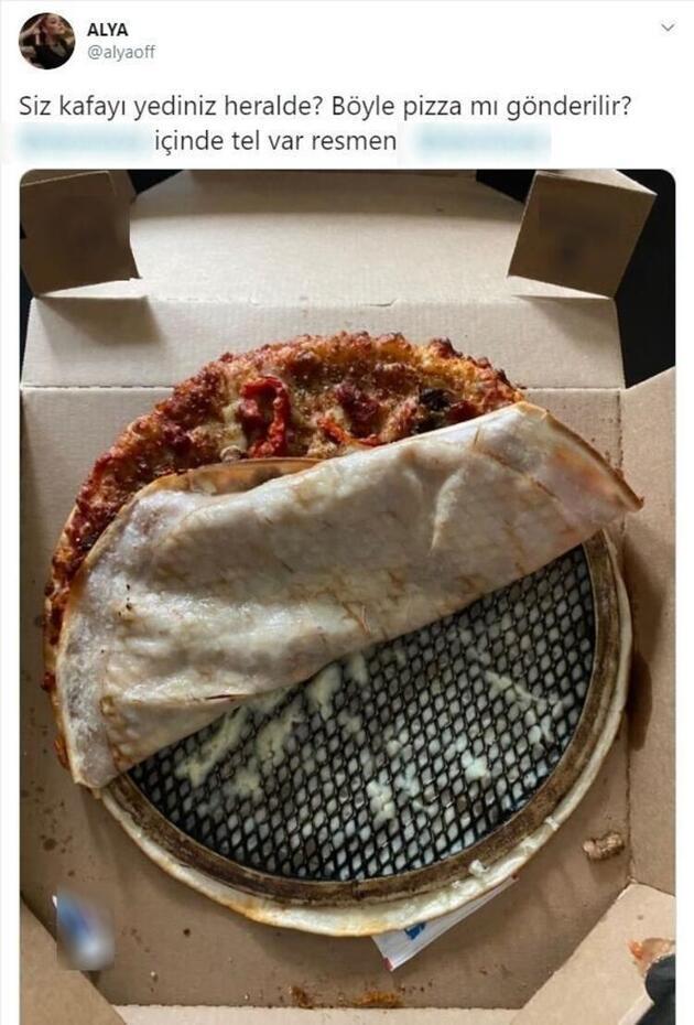 Pizza siparişi veren şarkıcı Alya, kutuyu açınca şoke oldu