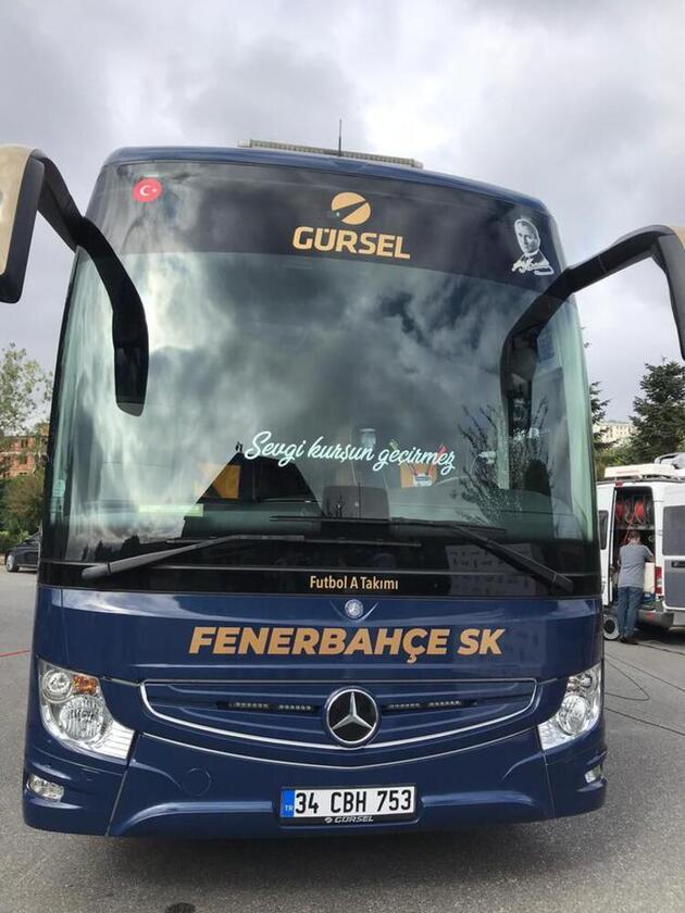 Fenerbahçe'nin yeni takım otobüsünde dikkat çeken detay!