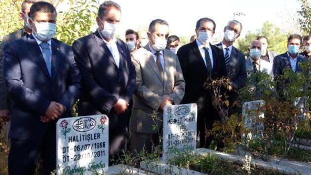 Van depreminin 9'uncu yıl dönümünde, Erciş'te anma töreni