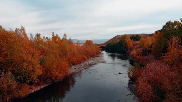 Yeşil doğasıyla ünlü Erciş sonbahar renklerine büründü