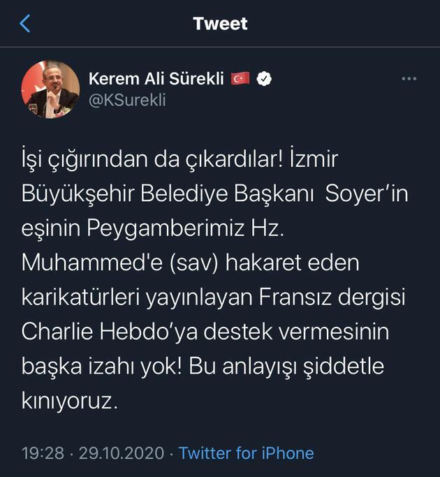 AK Parti'den Neptün Soyer'e peş peşe tepkiler