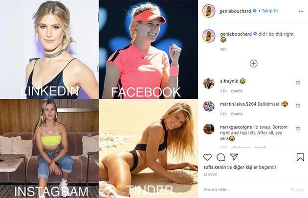 Ünlü tenisçinin paylaşımı olay oldu