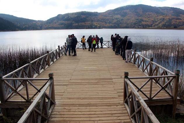Doğa harikası Abant Tabiat Parkı'na ziyaretçi akını