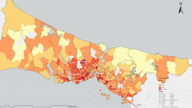 İBB yayınladı: Koronavirüs raporuna göre en riskli 40 mahalle