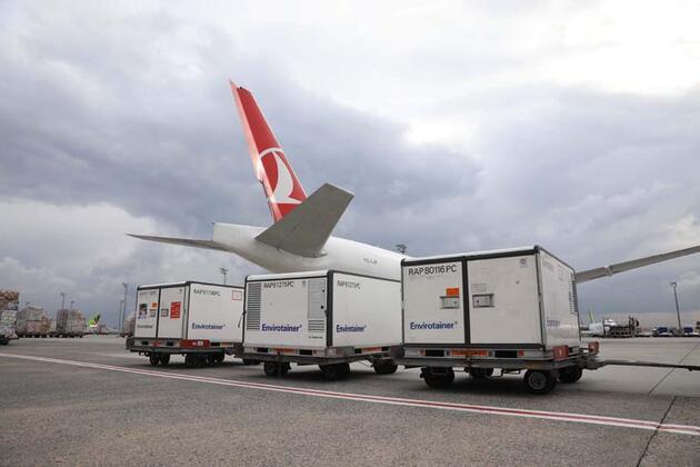 Turkish Cargo Covid-19 aşılarını tüm dünyaya taşımaya başladı